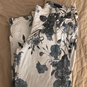 Nine West Flower Print Ankle Pants